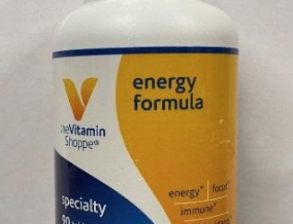 The Vitamin Shoppe Recalls Energy Formula Multivitamins