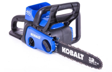 Kobalt Cordless Electric Chainsaws Sold Exclusively at Lowe's