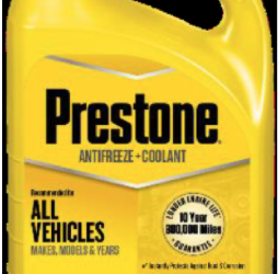 Prestone Products Recalls Antifreeze